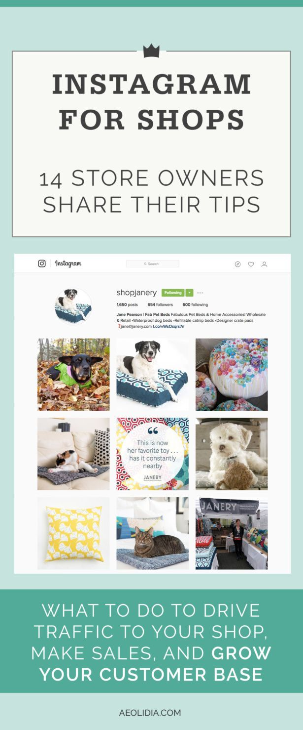 How to Drive Traffic From Instagram to Online Stores 14 business owners share with us their best Instagram secrets. Click to read more, or save this pin to read later!