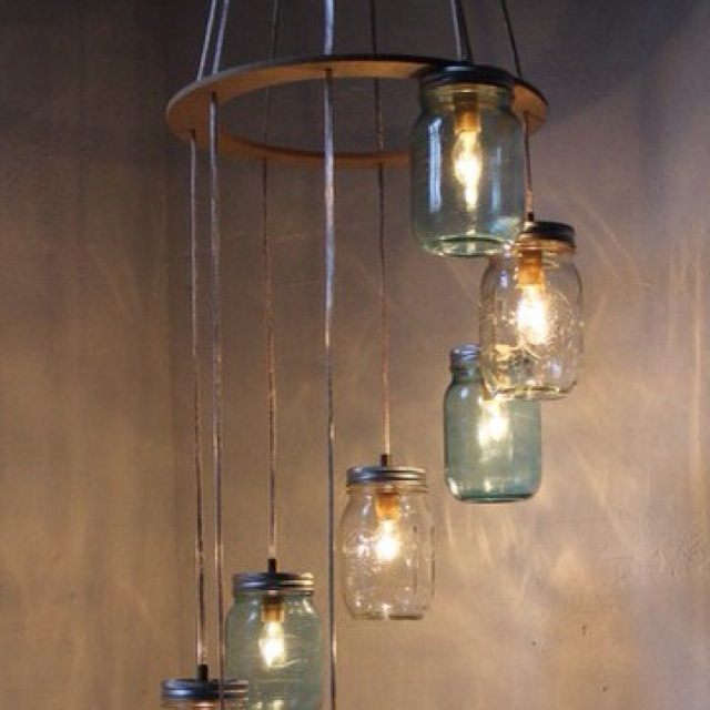 Edison Bulb Chandelier Mason Jar Lighting Mason By: Simple DIY Chandelier