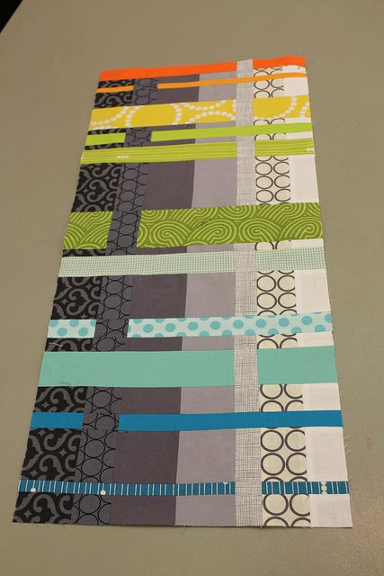 Challenge Winner by Under the Evening Star, via Flickr.  Love this - woven grey vertical and bright color horizontal