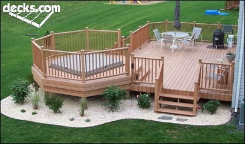 I've been wanting a deck forever. Our house is alright for entertaining but definitely needs more areas to go. I would love a hot tub to go in the colder months. I'm looking for ways I could design a privacy screen for around it.
