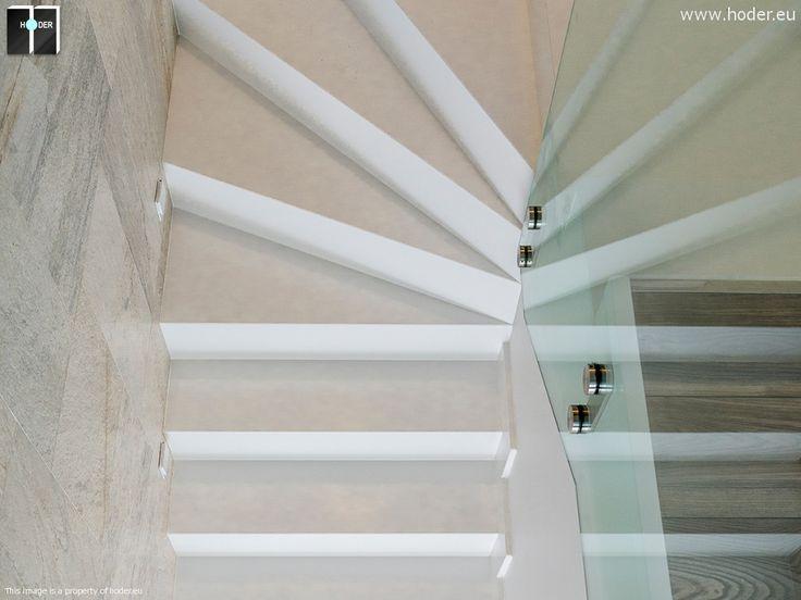 Schody marmurowe - realizacja Hoder #kamień #schody #granit #marmur #wnętrza #interior #design #office #hallway #marble #granite