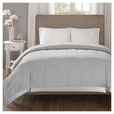 Bed Blanket Parkman Premium Oversized Down Alternative with 3M Scotchgard (Full/Queen) Gray