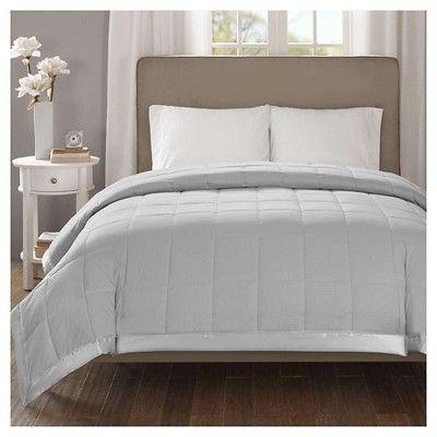 Bed Blanket Parkman Premium Oversized Down Alternative with 3M Scotchgard (Full/Queen) Gray