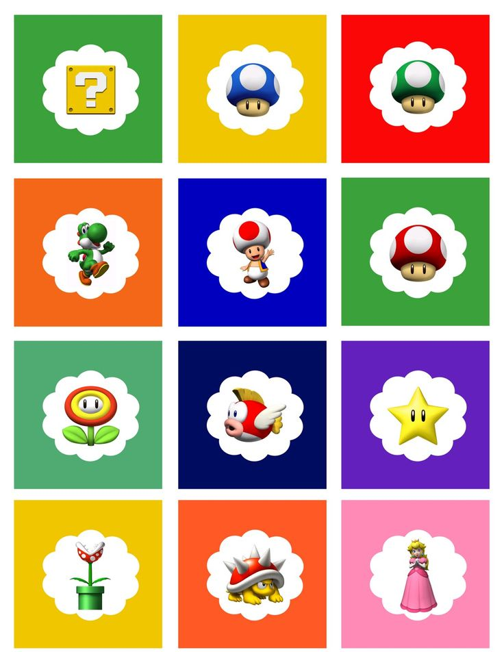 Crafty Susanita: Free Super Mario Cupcake Toppers/Tags