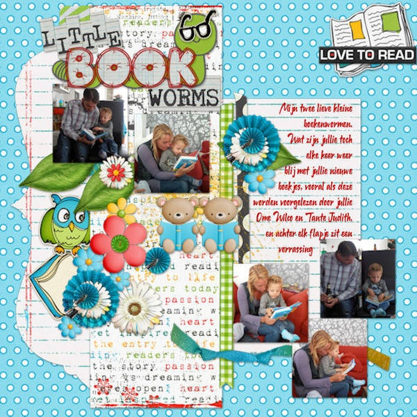 credits: June 2012: Love to Read by Scrap Orchard Designers #scraporchard