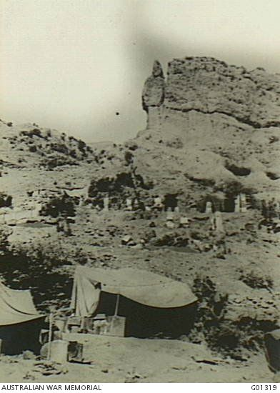Gallipoli Peninsula, Turkey. December 1915. It was believed for a long time that a Turkish sniper was located in the crevice in the Sphinx's head and heavy fire from the Anzacs was directed against it in April 1915. The belief was probably without foundation.