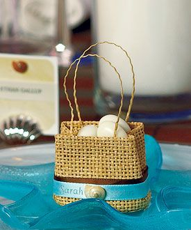 Natural Miniature Woven Beach Bags