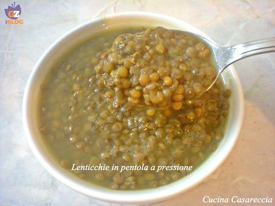 Lessare le lenticchie nella pentola a pressione
