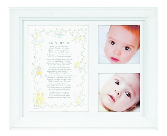 Twin Hearts Poem And Picture Frame Perfect As A Baby