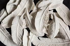 ceramic feathers