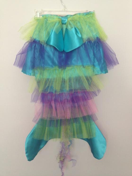 mermaid costume Mermaid tail  fish tail / skirt for little mermaid aqua on both sides. $35.00, via Etsy.
