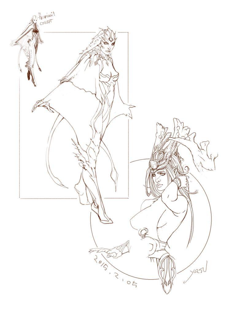 character sketch, yasu _ on ArtStation at https://www.artstation.com/artwork/RJ62D