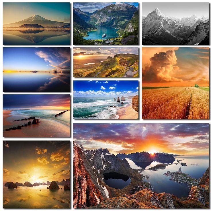 Tavlor på landskap i ditt hem skapar lugn och en känsla av rymd. Bläddra bland våra fotografier och illustrationer av vackra landskap.