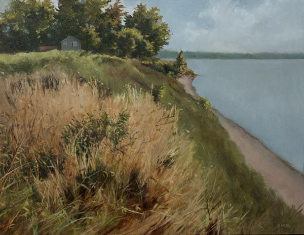 """Denise Antaya - Secluded Oil on prepared birch panel 11"""" x 14"""""""
