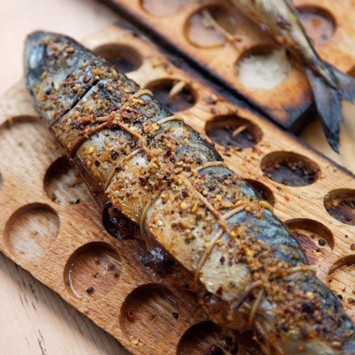 Holy Mackerel, Grill Planked Mackerel. Mackerel is an oily white fish, high in omega – 3′s that is related to tuna. It is best when cooked from fresh, and the preparation is usually done with steaks (like tuna) or better yet – whole. This flavourful mackerel will have you singing with joy as you nibble away at its flakey flesh.