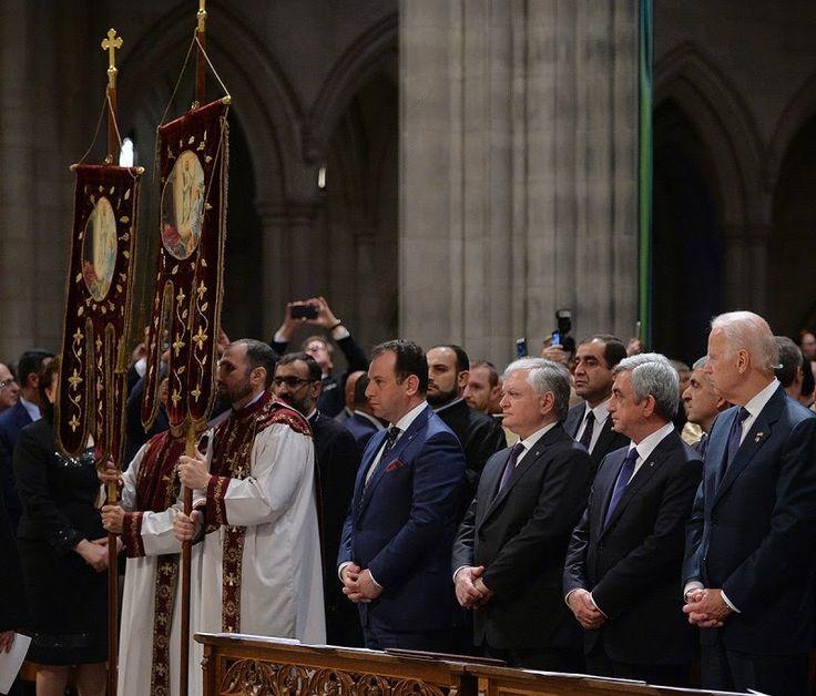 Un servicio de oración que conmemora el 100 aniversario del Genocidio Armenio se celebró en la Catedral Nacional de Washington el 7 de mayo.