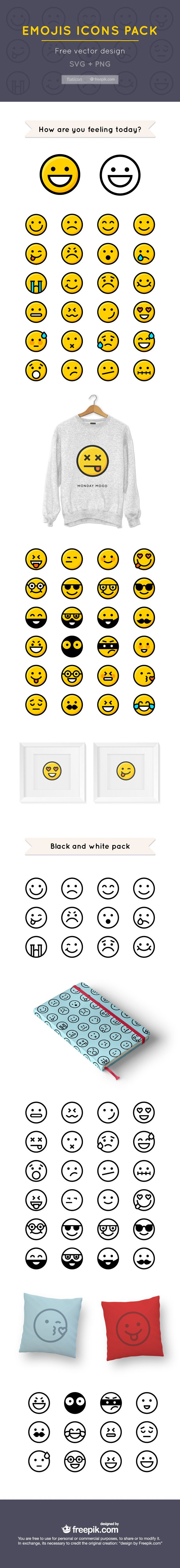 50 Free Emojis Icons For Designers (exclusive)