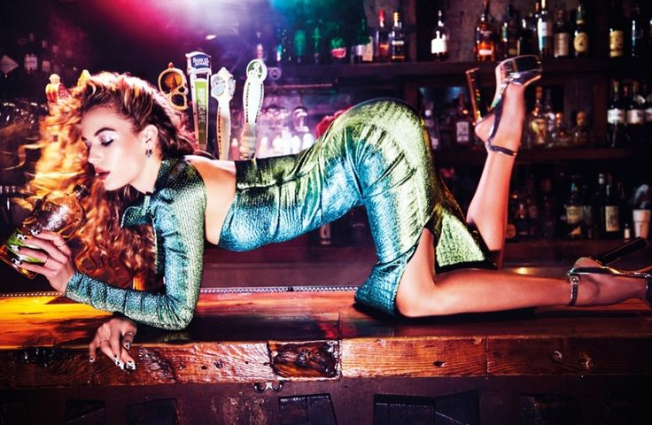 Hannah Ferguson is ridin' dirty on the Spring 2017 cover of Wonderland Magazine. Photographed by Ellen von Unwerth