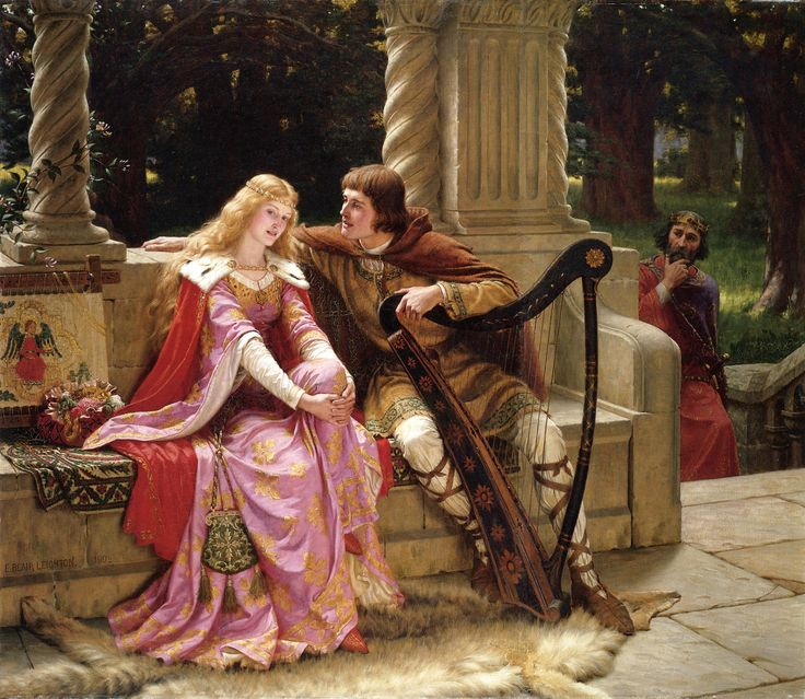 """Tristán e Isolda"" (1902) de Edmund Blair Leighton (1853-1922). Colección privada. /// ""Tristan and Isolde"" (1902) by Edmund Blair Leighton (1853-1922). Private collection."