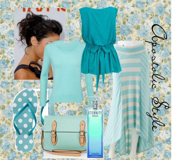 """Aqua Apostolic Style"" by emmyholloway on Polyvore"