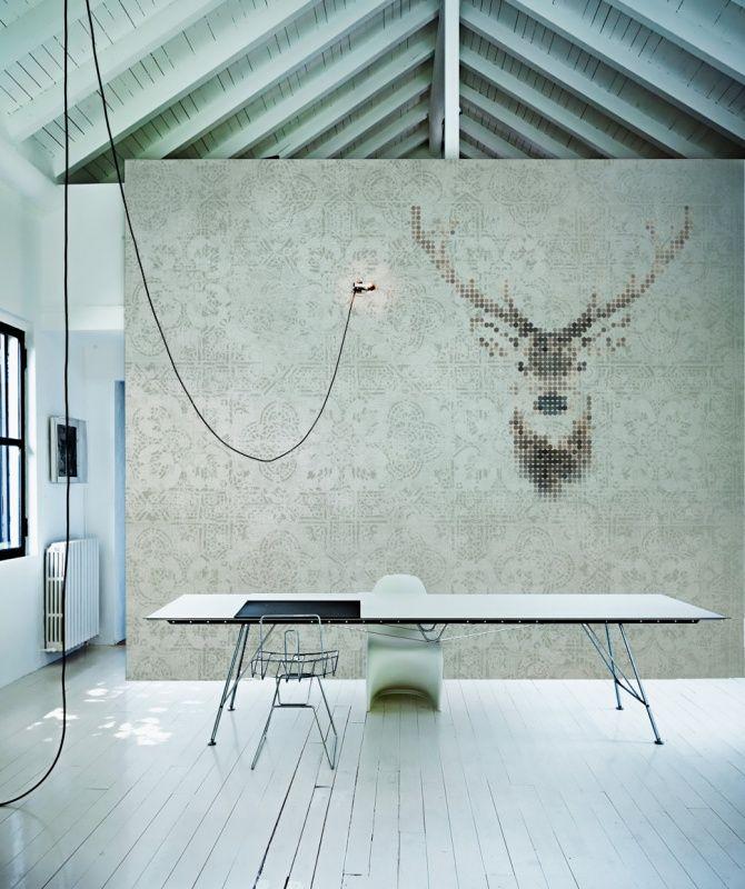 Sterk-design behang HERT