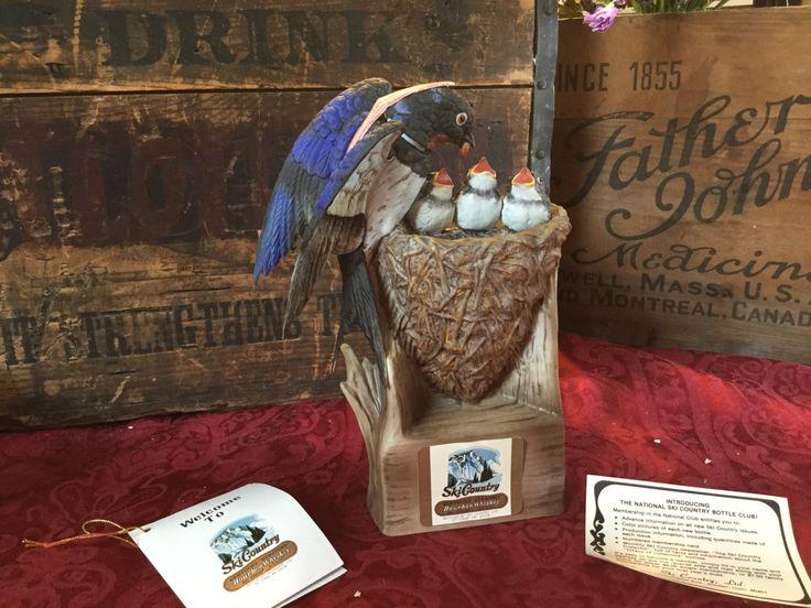 Vintage Ski Country Barn Swallow Family Bourbon Decanter ltd. ed. by SunshineVintageGoods on Etsy