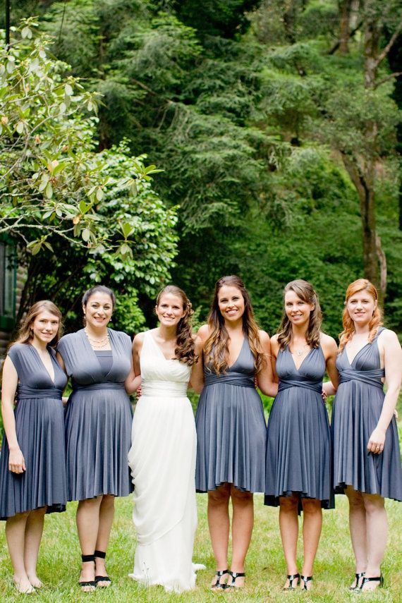 Infinity Wrap Bridesmaid Dress by thejerseymaid on Etsy, $83.00