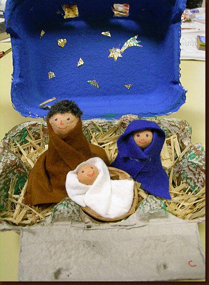 Weihnachten im Eierkarten !!!  Xmas in an egg box !