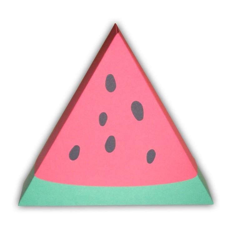 Watermelon Favor Gift Box Printable Color Template PDF. 5