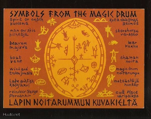 sami drums | Sami Magic Drum symbols