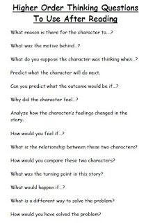 Questions after you read