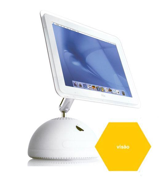 O Apple iMac foi considerado o design da década, em 2002, pela revista Business Week.  Steve Jobs, CEO, foi o co-fundador da Apple em 1976. Sob sua apaixonada liderança visionária, a Apple abraça cada oportunidade, desde o design de um produto inovador, passando pela propaganda inteligente, e indo até a embalagem insinuante, para convencer os consumidores que ela compreende seu estilo de vida digital, suas necessidades e suas aspirações.O logotipo da apple foi desenhado em 1977 por Rob…