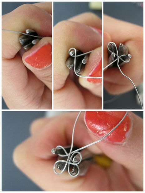 """Nail Polish Ring: Picture of Make the jig + the flower With video of """"How it Works"""" tutorial"""
