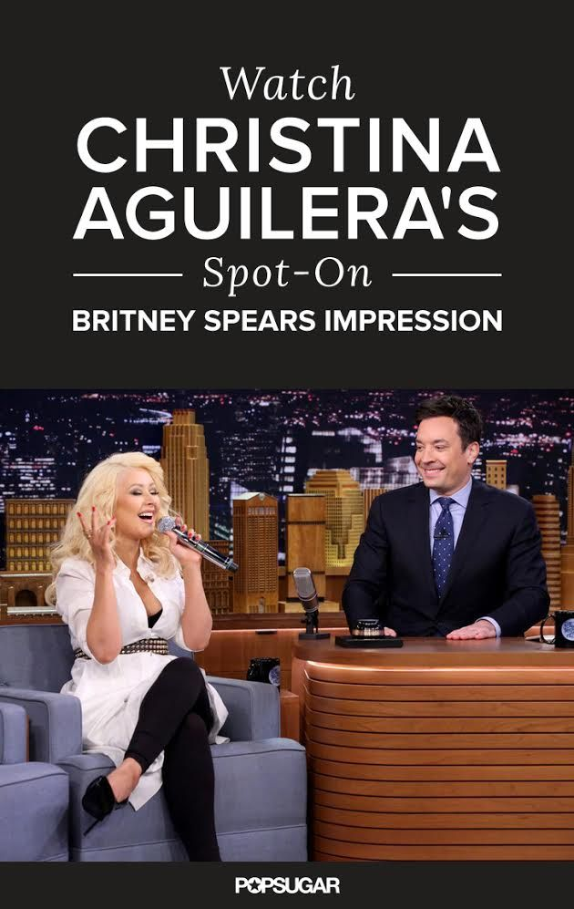 Christina Aguilera absolutely NAILED her Britney Spears impression!