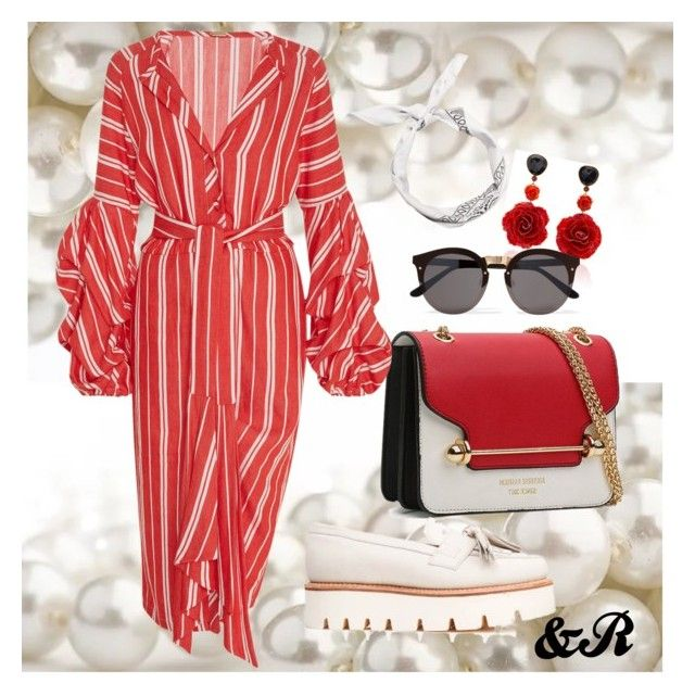 """""""Rad In Red!"""" by stylebydnr on Polyvore featuring Grenson, Bahina, Illesteva, Johanna Ortiz, red, resdress and somethingred"""