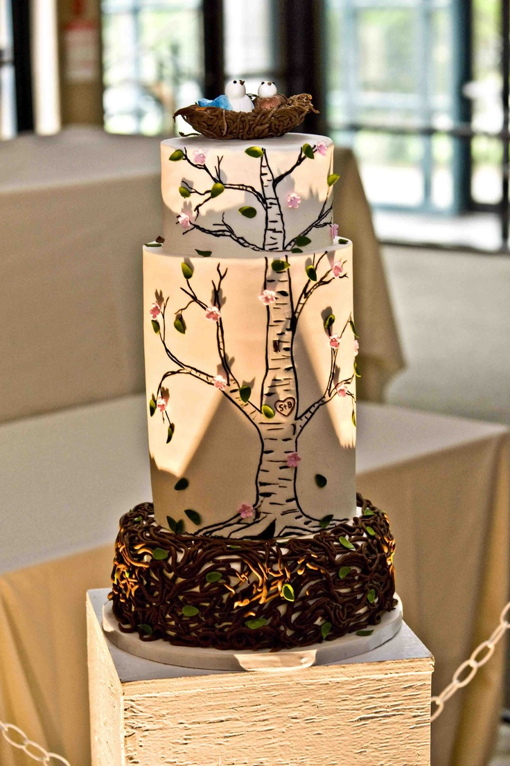 wedding cake nature 1000 images about birch themed wedding ideas on 23298