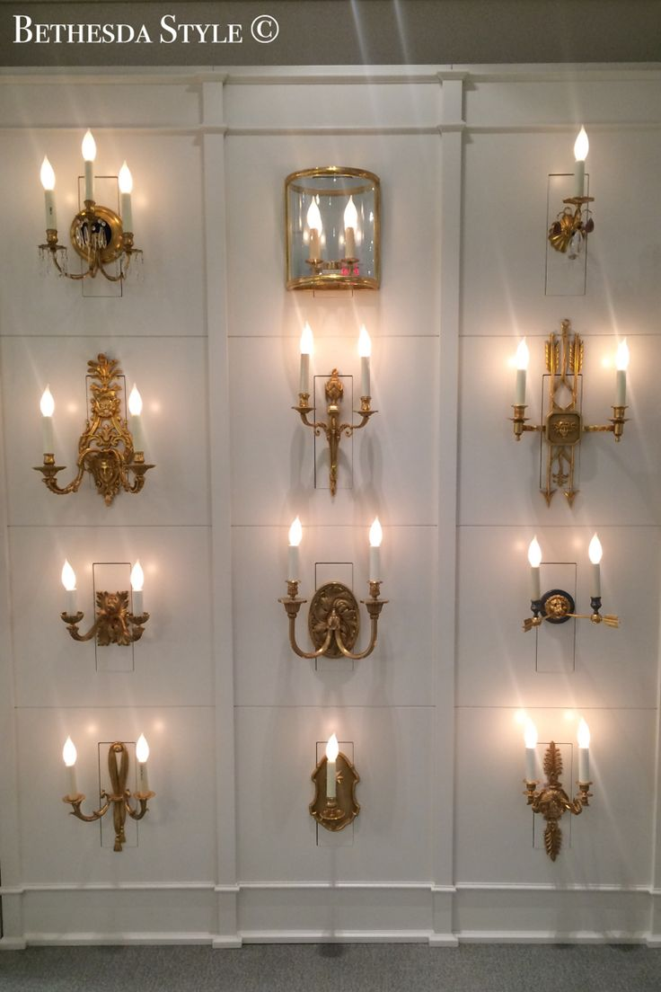 Wildwood brass and crystal beads buffet -  Bethesdastyle Antique Brass Sconces At Washington D C Design Center