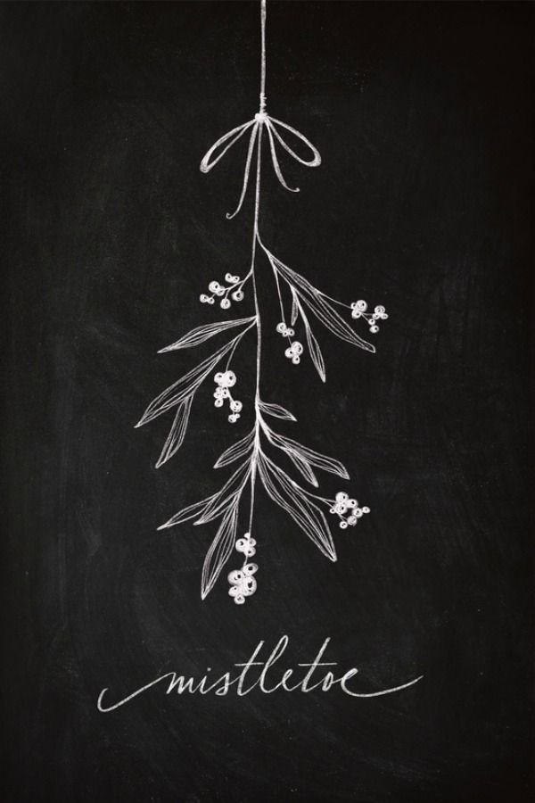 I love all of these beautiful Christmas chalkboard inspiration.
