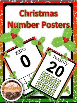 Teach students numbers using these number posters in the Christmas theme. These posters include a symbol in the ten frame design according to the number on the card. These posters may be posted in the classroom, or used in math centers, math stations, and more!