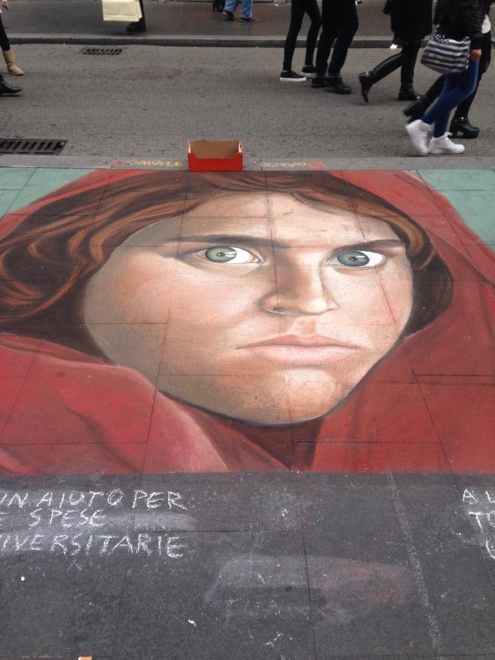 street artist in Via del Corso