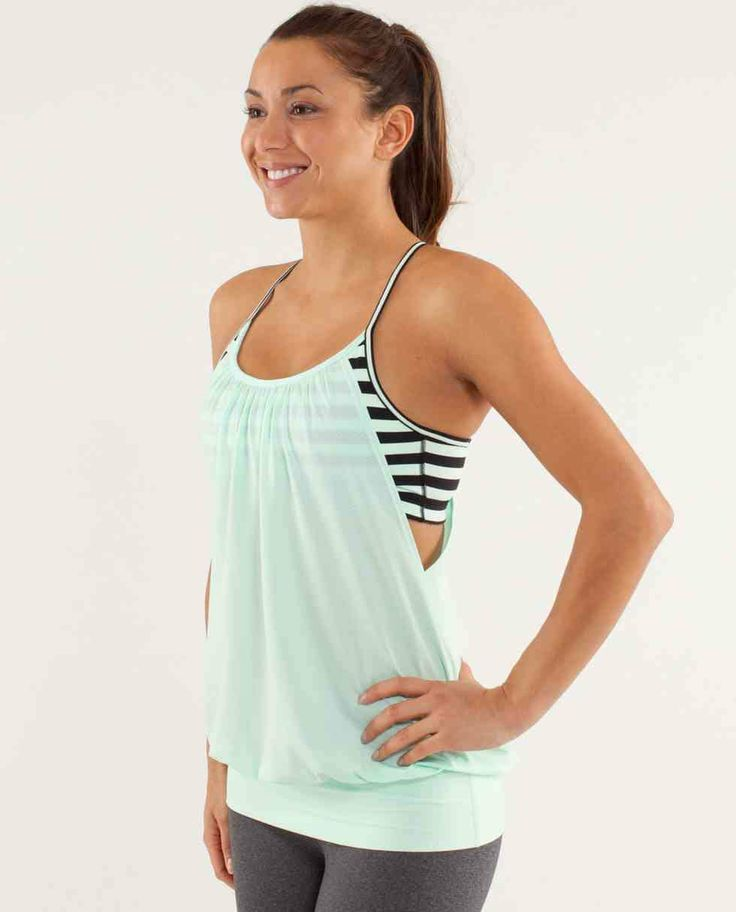 lululemon no limits tank - great for hiding tummy after given birth