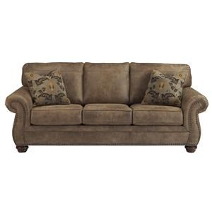 Leather Sofas The Jesse James Sofa Sleeper is made in the USA from a full grain distressed leather and tooled leather accents Features a hardwood frame sinuous wire