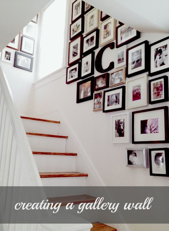 How to gallery wall, with black, white, silver and gold frames