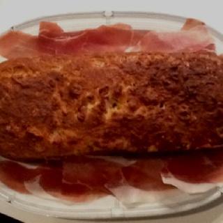 Ham and cheese plum cake