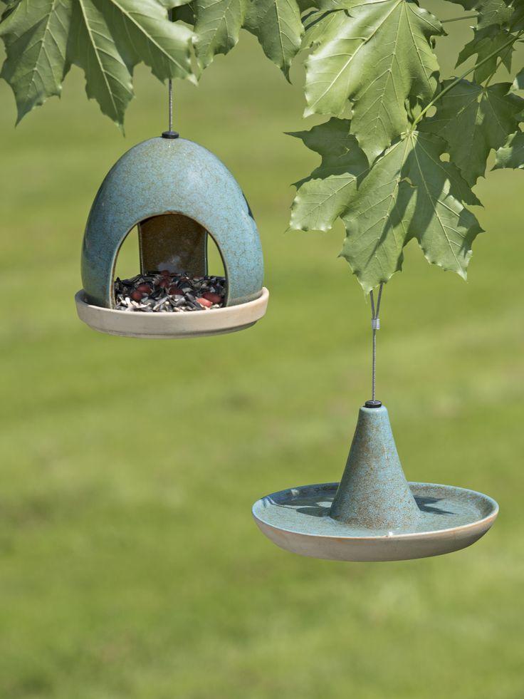 Fly-Through Bird Feeder & Waterer Set | Gardeners.com