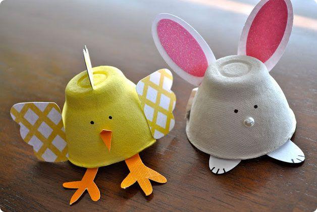 πασχαλινες χειροτεχνιες για παιδια χαρτονι αβγων