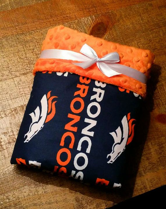 NFL Broncos Football Team Baby Blanket by CountryCozyBaby on Etsy