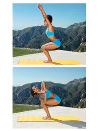 Yoga for Weight-Loss: Blast 500+ Calories Doing Yoga: Add On: Chair with Twist