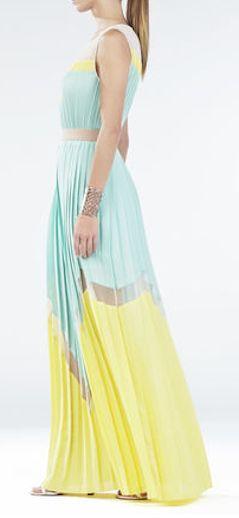 Gorgeous color blocked maxi dress