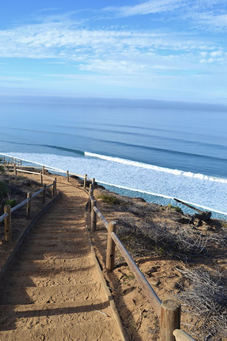 Hiking at Torrey Pines State Park in La Jolla, California.
